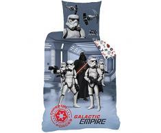 CTI 044673 Housse de Couette Star Wars Dark Side Enfant Coton Gris 200 x 140 cm + Taie 63 x 63 cm
