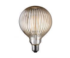 WOFI Ampoule à filament LED pour plafonnier/lampe de bureau, Verre, Transparent, 12.5 x 12.5 x 17.5 cm, E27