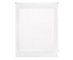 Blindecor Motas Store Enrouleur, Tissu, Blanc Gris, 120Â x 250Â cm