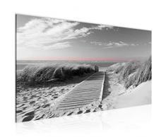 Tableau decoration murale Plage de la mer - XXL Impression sur Toile Salon Appartment 1 Parties - prêt à accrocher - 604012c