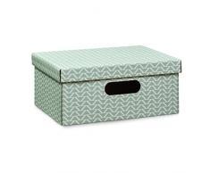 Zeller Boîte de rangement, Carton, menthe, 40 x 30 x 17 cm