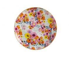 Maxwell Williams DX0180 Assiette décorative en porcelaine anglaise Motif fleurs en cachemire