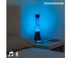 InnovaGoods Lampe à lave avec haut-parleur Bluetooth et microphone 30 W Noir et bleu
