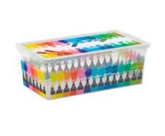 Kis 8407000 2059 01 C Box Style Colours Arty Boîte de Rangement Plastique Multicolore 6 L
