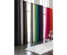 Today 257306 Rideau à œillets Polyester Ciel dorage/Bleu Marine 140 x 260 cm