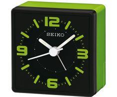 Seiko QHE091M - Réveil de Table (analogique), Couleur Verte