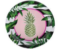 Creative Converting 332535 Golden Ananas Assiette en papier Multicolore