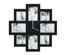 Deknudt Frames S65SM2 Cadre Multi Photos avec Horloge Noir 49 x 49 x 4 cm