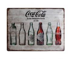 Nostalgic-Art 23207 Coca-cola Bottle Timeline Affiche sur tôle en Fer Blanc 30 x 40 cm