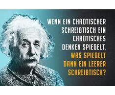 Schatzmix Plaque en métal avec Inscription Einstein EIN pour Bureau chaotique en tôle Multicolore 20 x 30 cm
