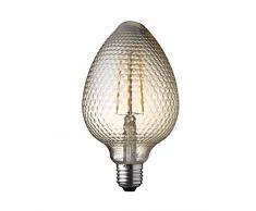 WOFI Ampoule à filament LED pour plafonnier/lampe de bureau, Verre, Transparent, 10 x 10 x 17 cm, E27