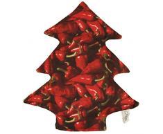 Himmelgruen 5077CK Coussin décoratif, Plastique, Rouge, 27x 27x 5cm