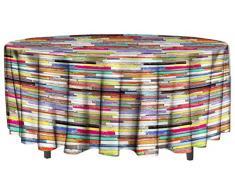 Soleil docre Nappe Toile cirée Ovale 160x240 cm Atlantique PVC, Multicolore