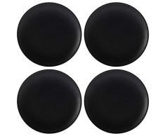 Maxwell Williams Caviar Assiettes latérales, Porcelaine, Noir , 15 cm (Set of 4)