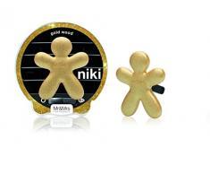 Mr&Mrs Fragrance Diffuseur de Parfum Niki pour Voiture, Plastique doré, 10x4x10cm