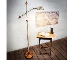Relaxdays-10018506 Lampadaire avec Design style ancien vintage retro Lampe sur pied antique