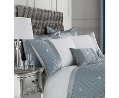 Catherine Lansfield Parure de lit à Paillettes, Polyester, Bleu Canard, Cushion