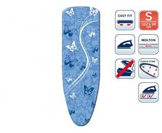 Leifheit AirBoard Thermo Reflect Papillons Housse de rechange pour Table à Repasser, Bleu, 112 x 34 cm
