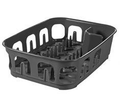 CURVER | Egouttoir essentials rectangulaire 9 assiettes, Anthracite, Sink Top, 39,1x29x10,9 cm