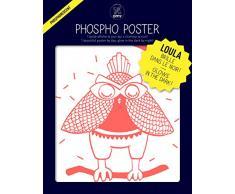 Omy Affiche phosphorescente Loula (format 30 x 40 cm) - brille dans le noir…