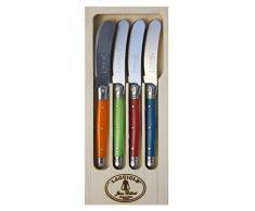 LAGUIOLE 4Petits Couteaux à Beurre London Mix en écran, Acier Inoxydable, Multicolore, 20x 8.5x 2.3cm