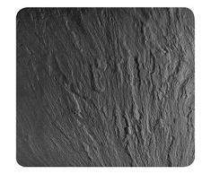 Wenko2712984500,Multi Panneau Ardoise pour plaques vitrocéramiques, Planche à découper en Verre trempé, Noir, 56x 50x0.5cm