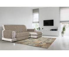 Italian Bed Linen Comfort Housse de canapé antidérapante avec méridienne Marron 190 cm