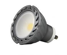 Lighted COB Ampoule LED 50 K GU10, 8 W, gris, 50 x 58 mm