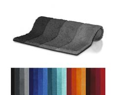 Spirella Badteppich Four Grey-Black, 60X90 cm Tapis de Bain, Gris/Noir, 90 x 60 x 25 cm