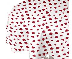 Soleil docre Nappe Toile cirée Rectangle 160X240 cm Corazon, PVC, Rouge