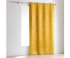 Homea OPACIA Rideau à œillets, Polyester, Jaune, 140 cm x 240 cm
