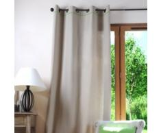 LOVELY CASA Rideau, Coton, Lin/Vert, 250x135 cm