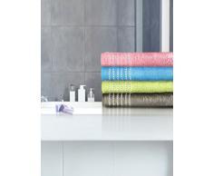 Santens Serviette de Toilette OXIA Azur 50100, Coton, 50x100 cm