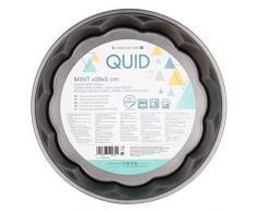 Quid Mint Moule à tarte en acier carboné, intérieur anti-adhésif, fermeture avec sécurité, 28 x 5 cm