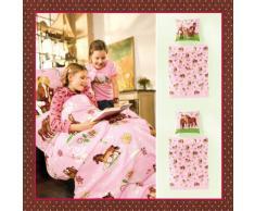 Bierbaum Linge de lit Enfant 135 x 200 cm Rose