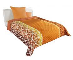 Sommeil WOHL Basic e00389 Couvre-lit Jeté de canapé Polyester Orange 240 x 220 x 0,5 cm