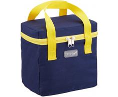 Kitchen Craft Petit Déjeuner Sac Isotherme, 4.9l (1Gal)–Bleu Marine/Jaune, Tissu, Multicolore, 14x 20x 20cm
