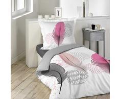 douceur dintérieur parure 2 pièces 140 x 200 cm Pink Dream