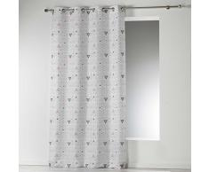 Douceur dIntérieur CYLIA Rideau à œillets, Polyester, Blanc, 260x140 cm