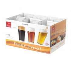 Bormioli 517220-B25 Nonix Beer Time Verre à Bière Transparent 58 cl Set de 6