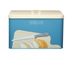 Kitchen Craft Art Déco Couleur Acier Carbone hermétique Boîte à Pain avec Couvercle, Multicolore, 33 x 21 x 20 cm