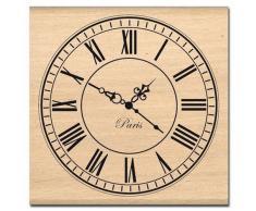 Florilèges Design FF111001 Tampon Scrapbooking Grande Horloge Beige 8 x 8 x 2,5 cm