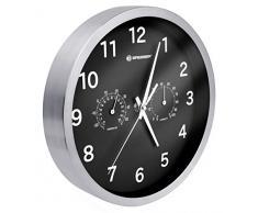 Bresser MyTime Thermo/Hygro Horloge murale en Métal, noir