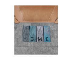 Un Amour de Tapis 36450 Eco Home Wood Paillasson Caoutchouc Bleu 45 x 75 cm