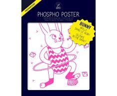 Omy Affiche phosphorescente Bunny (format 30 x 40 cm) - brille dans le noir…