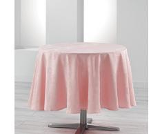 Charme et Douceur CALICE Nappe ronde Polyester Rose diamètre 180 cm