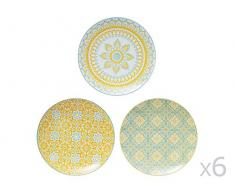 TABLE PASSION AAS3562070 Assiette, Porcelaine, Multicolore, 27 X 27