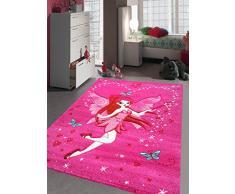 Un Amour de Tapis 33883 Kids Fée Tapis pour Chambre de Fille Polypropylène Rose 160 x 230 cm