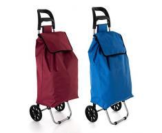 Quid Chariot de Courses Bleu ou Rouge 16 x 34 x 99,5 cm
