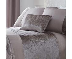Tonys Textiles Coussin rectangulaire en Velours Motif boudior, Polyester, Vison, 12 x 20 (32cm x 50cm)